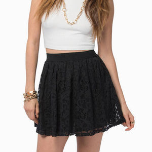 Short Black Lace Skirt